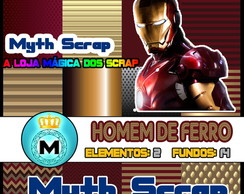 Kit Digital Scrapbook HOMEM DE FERRO