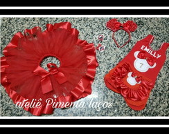 Conjunto Minnie Vermelha com Collant