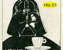 "Placa ""Café Darth"""