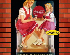 "Placa ""Coca-cola Drink"""
