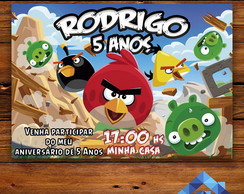 Convite Angry Birds - Arte Digital
