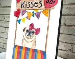 Poster / Quadro A4 Dog Kisses
