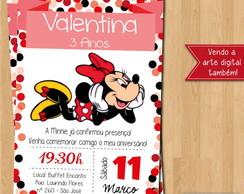 Convite Virtual Minnie Vermelha Elo7