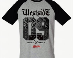 Camiseta Westside Rap Raglan SWAG