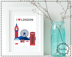 Poster London Love - A3