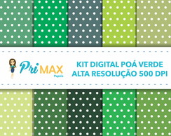 Kit Digital Poá Verde