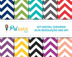Kit Digital Poá Chevron