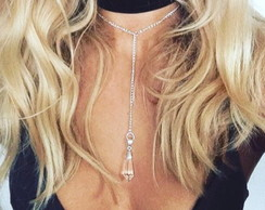 Chocker + Colar Gravatinha