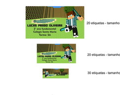 Kit Etiqueta Escolar - Minecraft
