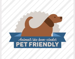 Adesivo de Vitrine Diversos Pet Friendly