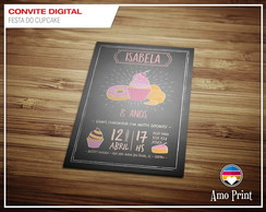 Convite Digital Festa do Cupcake