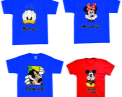 Kit camisetas aniversario do Mickey
