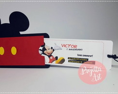 Convite Mickey Mouse Ticket