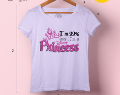 T-shirt feminina Disney Princess