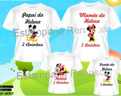 Kit Camiseta Aniversario Minnei c/4