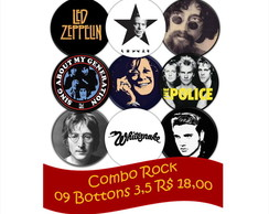 09 Bottons 3,5 - Rock Buton Anos 60 - 70