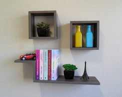 Kit Decorativo Nichos e Prateleira MDF