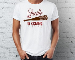 Camiseta branca lucille the walking dead