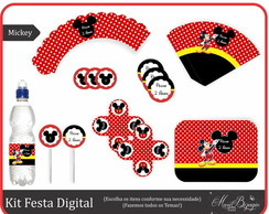 Kit Festa Digital - Mickey