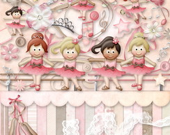 Kit Scrapbook Digital - Bailarinas III