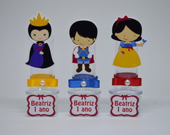 Mini tubete Branca de Neve e personagens
