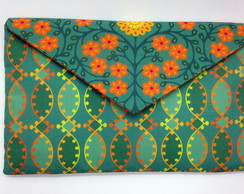 Clutch Envelope Arabescos Verde LN1