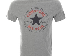 Camiseta Converse All Star Cinza, Branca