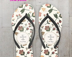 Chinelo Dia das Mulheres, Floral