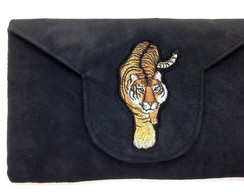Clutch com Bordado Tigre LJ5