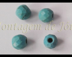 TQSA-36 - Turquesa Facetada 6mm (4un)
