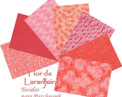 Kit Tecidos Tom Goiaba Patchwork 25x35cm