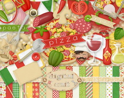 Kit Scrapbook Digital - Pizza