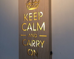 Quadro Keep Calm and Carry On - Leds