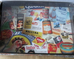 Bandeja Decorativa Marcas Antigas Retro
