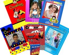 Revista Colorir e Giz de Cera Minnie, Mickey, Carros, Frozen