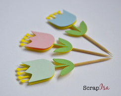 Toppers para doces - Flor