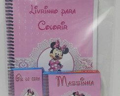 kit de colorir minnie com massinha