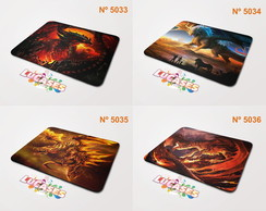 Mouse Pad Dragão Dragões Dragon