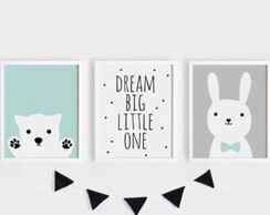 Kit 3 Quadrinhos Dream Big Little One
