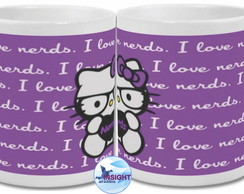 Caneca Hello Kitty I Love Nerds