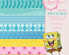 Kit Digital Personagens - Bob Esponja