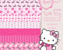 Kit Digital Personagens - Hello Kitty