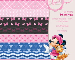 Kit Digital Personagens - Minnie Rosa