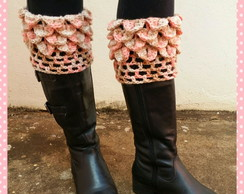 Mini polaina de Escama (Boot cuffs)