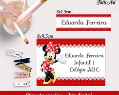 Etiqueta Escolar Digital - Minnie