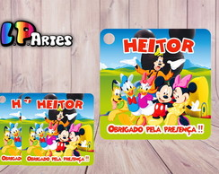Tag Agradecimento A Casa do Mickey Mouse