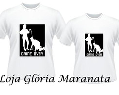 Kit Camisetas Personalizadas Namorados Casal C2 Game Over  8364bacd4903d