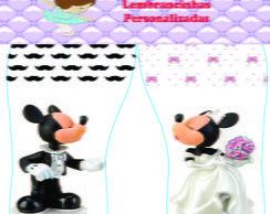 Chinelos de casamento Mickey e Minnie