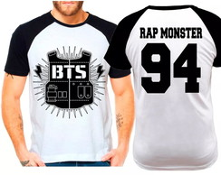 Camiseta Raglan Kpop Bts Rap Monster 94