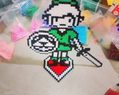 Link com Base Heart Container Pixel Art